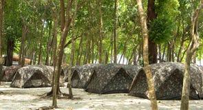 Camping Tents at Campground Royalty Free Stock Photo