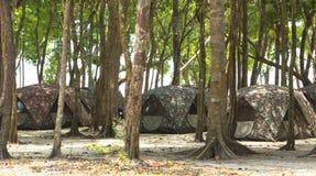 Camping Tents at Campground Royalty Free Stock Image