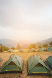 Camping Tents in Nature Stock Image