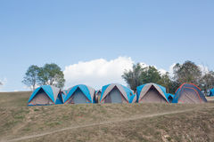 Camping Tents in Nature Royalty Free Stock Photography