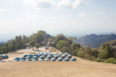 Camping Tents in Nature Royalty Free Stock Photos