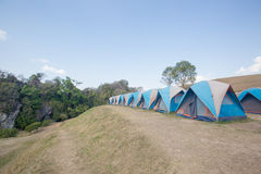 Camping Tents in Nature Stock Photo