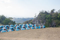 Camping Tents in Nature Stock Photography