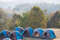 Camping Tents in Nature Royalty Free Stock Photo