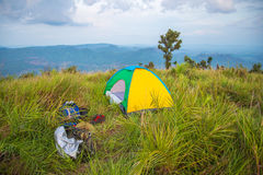 Camping tents Royalty Free Stock Image