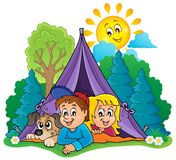 Camping theme image 2 Stock Photography