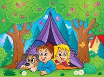 Camping theme image 3 Stock Image