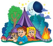 Camping theme image 4 Royalty Free Stock Photography