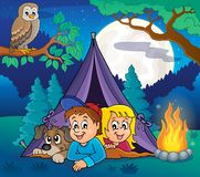 Camping theme image 5. Eps10 vector illustration vector illustration