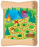 Camping theme map image 1 Royalty Free Stock Images