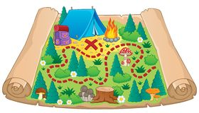 Camping theme map image 2 Royalty Free Stock Photography