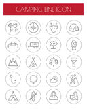 Camping thin line icon set.vector.  Royalty Free Stock Photos