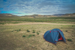 Camping in Tibet Stock Images