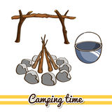 Camping Time Campfire Royalty Free Stock Image