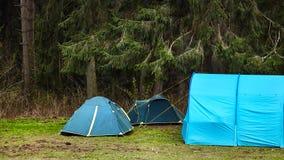 camping Toeristententen in het bos royalty-vrije stock foto