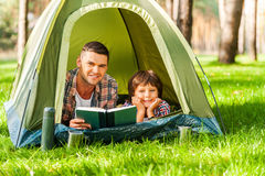 Camping together is fun. Royalty Free Stock Photo