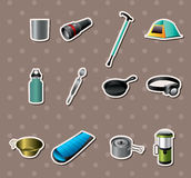 Camping tools stickers Royalty Free Stock Photography