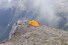 Camping at the top of Greece. At Mt. Olympus Royalty Free Stock Photo