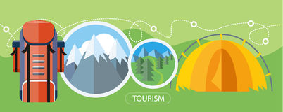 Camping Tourism Concept Stock Photography