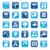Camping and tourism icons Stock Image