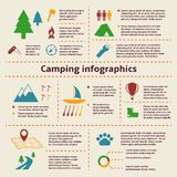 Camping and Tourism Infographic Elements Royalty Free Stock Photo