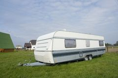Camping trailer Stock Photography