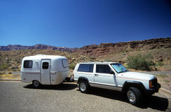 Camping trailer Royalty Free Stock Photography