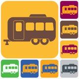 Camping trailer icon. Vector illustration royalty free illustration