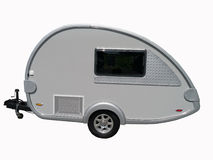 Camping Trailer Isolated royalty free stock images
