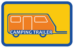 Camping trailer sign Stock Image