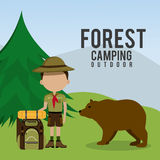 Camping travel and vacations. Royalty Free Stock Photography