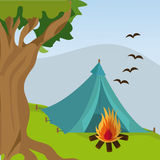 Camping travel and vacations. Stock Image