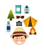 Camping trip design. Illustration eps10 graphic Royalty Free Stock Image