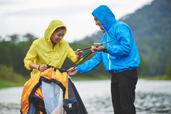 Camping trip Royalty Free Stock Images