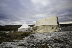 Camping in the tundra2 Stock Photo