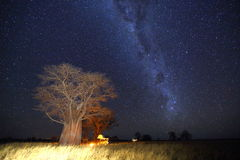 Camping under the milky way Stock Images