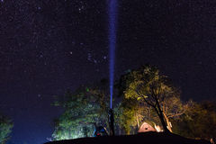 Camping under the sea of stars Royalty Free Stock Photo