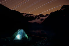 Camping under star Royalty Free Stock Images