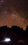 Camping under the stars Stock Image