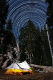 Camping under the stars in Emigrant Wilderness stock image