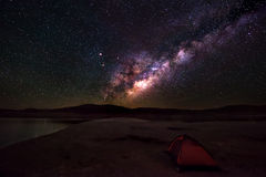 Camping under the Stars Royalty Free Stock Images
