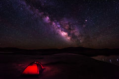 Camping under the Stars Stock Photo
