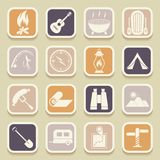 Camping universal icons Stock Photography