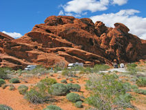 Camping - Valley of Fire - Nevada Royalty Free Stock Photography