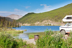 Camping van RV parks summit lake campground Royalty Free Stock Photo