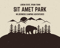 Camping vector brochure and label. The concept of Stock Images