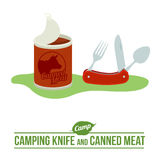 Camping vector flat icon Royalty Free Stock Photos