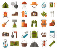 Camping Vector Icons Stock Photos