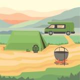 Camping vector iilustration. Summer camping vector iilustration eps10 Stock Image