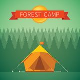 Camping vector illustration Stock Photos